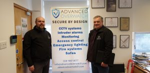 Daryl Archer and Andy Legg from Advanced Overwatch CCTV and Security Solutions